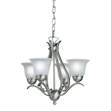 Kichler Stained Glass Chandelier (Kichler Dover Mini Chandelier - 18W in. Brushed Nickel )
