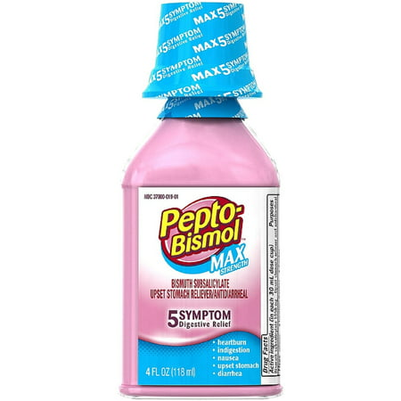 Pepto-Bismol Max Strength Liquid 4 oz (Best Cure For Upset Stomach And Vomiting)
