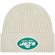 New York Jets New Era Youth Core Classic Stone Knit Cuffed Hat - Cream - OSFA
