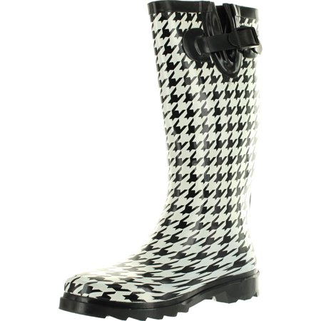 Static Footwear Womens Raindrops Fashion Waterproof Rainboots Many Colors And (Leopard Patent Footwear)