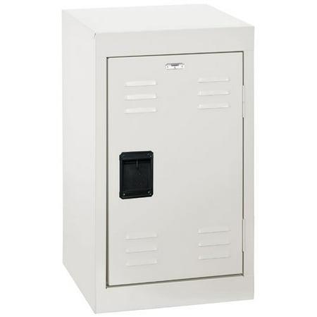 "Sandusky 1-Tier Welded Steel Storage Locker, 24""H, White"