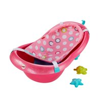 Fisher-Price Pink Pearl Tub with Soft Mesh Sling & 2 Bath Toys, Pink