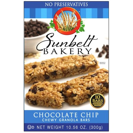 Sunbelt Bakery Chewy Chocolate Chip Granola Bars (4-Boxes)