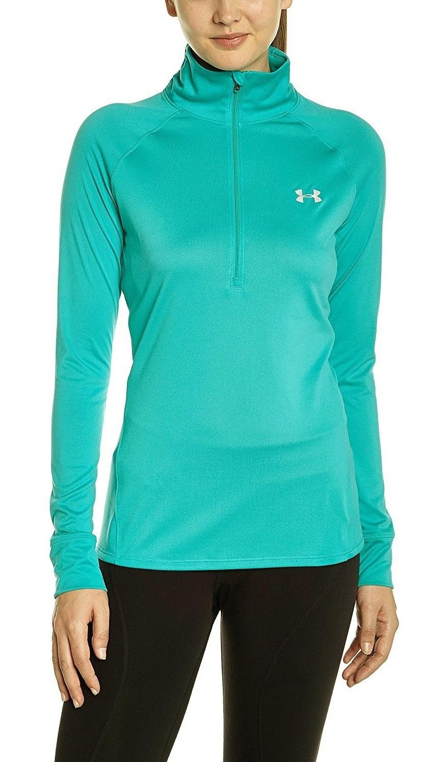 Women/'s Under Armour Tech 1//2 Zip Long Sleeve Shirt Top Choose Size /& Color H