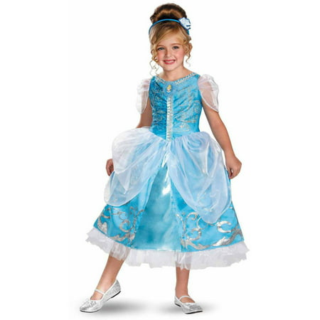 Disney Cinderella Deluxe Sparkle Girls' Child Halloween Costume