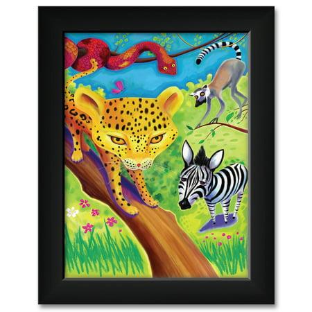 Jpg Art Dog - Wild about zoos jpg Framed Art Print by Joanne Kollman. Print Size: 9