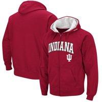 Indiana Hoosiers Colosseum Wordmark Arch & Team Logo Full-Zip Hoodie - Crimson