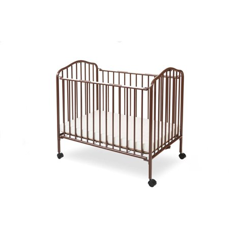 LA Baby Mini/Portable/Compact Crib, Chocolate (Metal Crab)