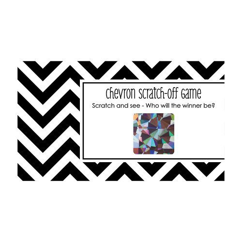 Chevron Black and White - Party Game Scratch Off Cards - 22 Count