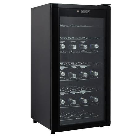 Costway 32 Bottles Wine Cooler Fridge Cellar Storage Holder Chiller Bar Rack Cabinet