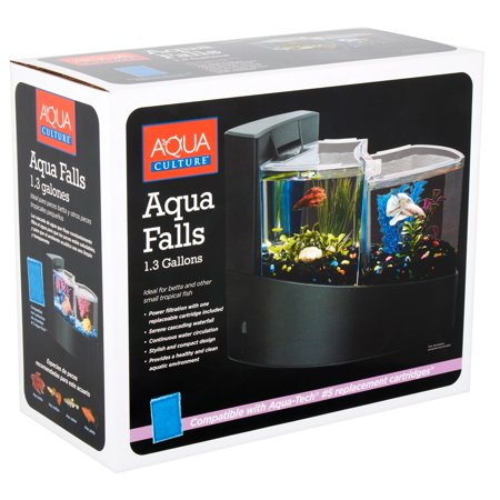 Aqua Culture Aqua Falls Betta Fish Aquarium Kit,