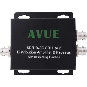 Sd Sdi Distribution Amplifier - Avue SDE - 12RN Distribution Amplifier & Repeater - 1920 x 1080 SUPPORT 3G/HD/SD-SDI W/ RECLOCKING