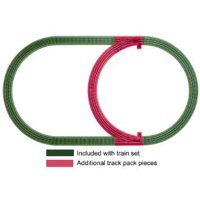 Lionel O Gauge Model Train Six Piece FasTrack Inner Passing Loop Expansion Pack