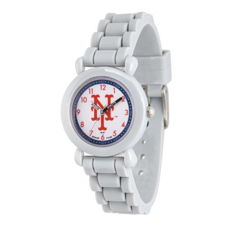 Gametime Badger Watch (GAMETIME MLB Kids' Grey Plastic Time Teacher Watch, 1-Pack)