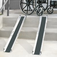 DMI Portable Wheelchair Ramp For Home, Van, Steps, Adjustable Telescoping Retractable Lightweight