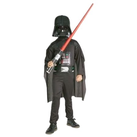 Star Wars Boys Darth Vader Halloween Costume Jumpsuit, Cape & Mask - Darth Vader Mask And Cape