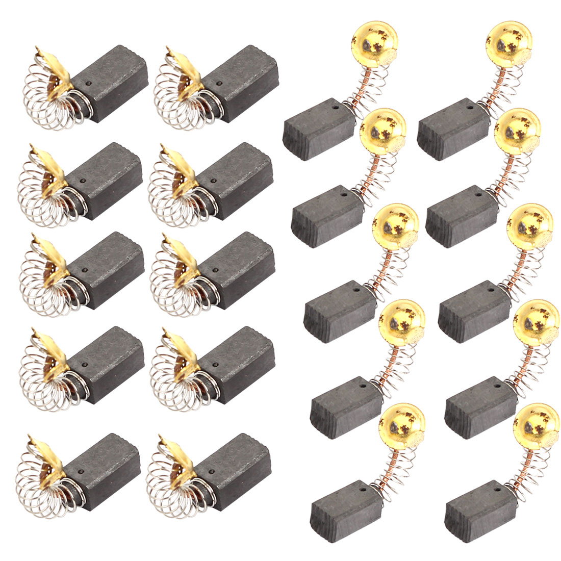 10 Pairs Electric Drill Motor Rotary Power Tool Carbon Brush 12.5mm x 7mm x 6mm