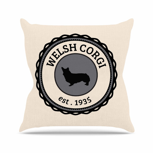 East Urban Home Welsh Corgi Dog Throw Pillow