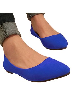 Women's Flats Loafers Ballerina Ballet Slip On Party Pointed Toe Boat Shoes