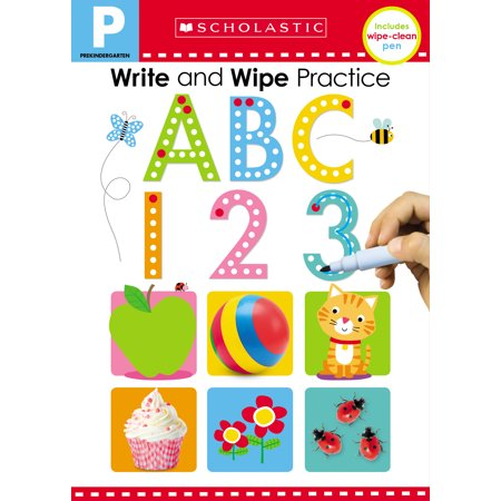 Write and Wipe Practice Flip Book: ABC 123 (Scholastic Early Learners)
