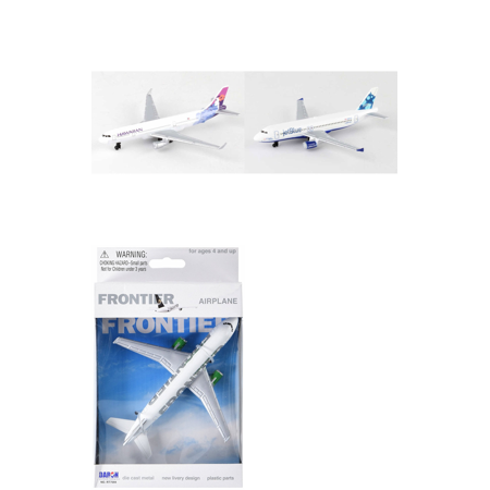 Hawaiian  Jetblue  Frontier Airlines Diecast Airplane Package   Three 5 5  Diecast Model Planes
