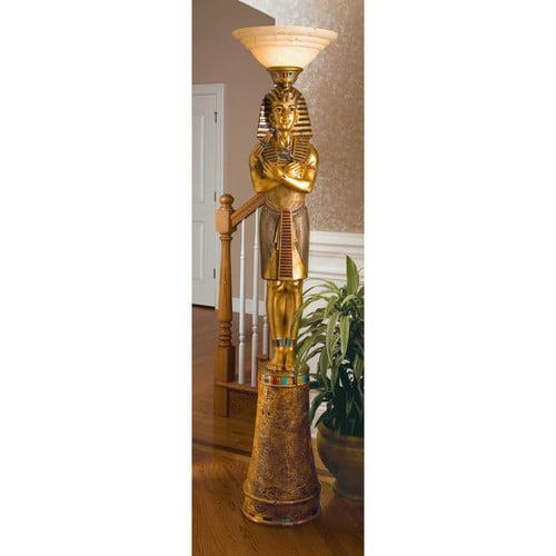 Design Toscano King Tut 74.5'' Torchiere Floor Lamp