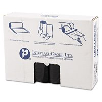 Inteplast Group High-Density Can Liners, 33 Gallon, Black, 250 count