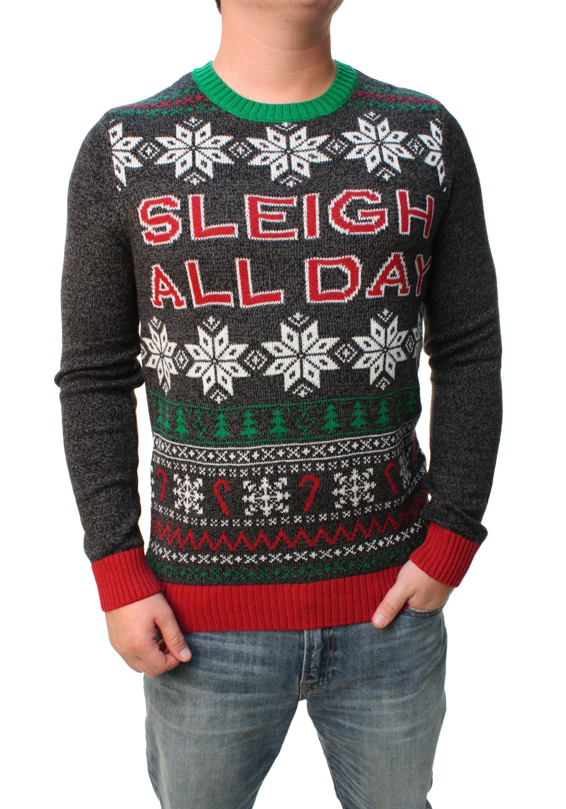 Sleep or Sleigh All Day UGLY Christmas sweater