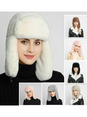 SUNSIOM Women Russian Thick Fluffy Cap Fake FAUX Fur Headband Hat Winter Ear Warmer Ski