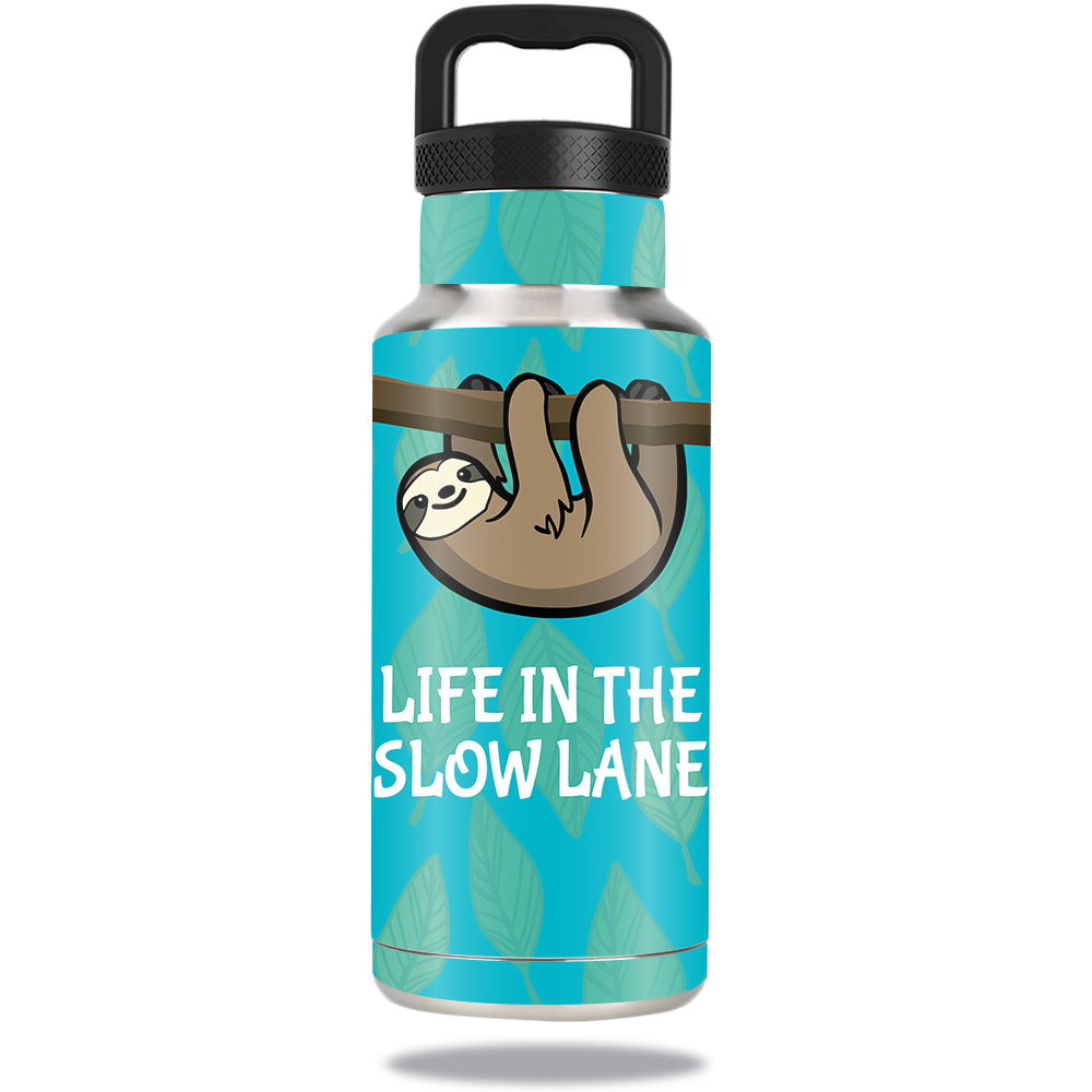 Skin For Ozark Trail Water Bottle 36 oz – Slow Sloth | MightySkins Protective, Durable, and Unique Vinyl Decal wrap cover | Easy To Apply, Remove, and Change Styles | Made in the USA