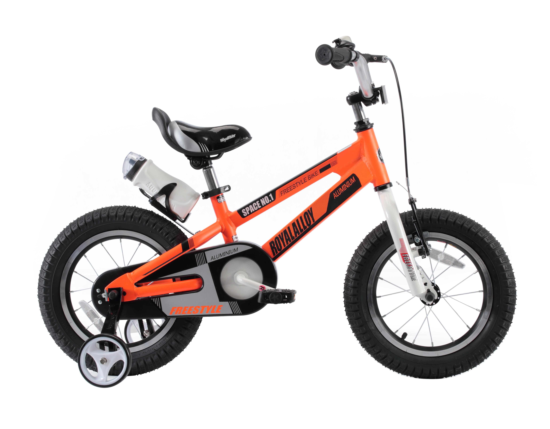 RoyalBaby Space No. 1 Orange 12 inch Kid's Bicycle by RoyalBaby