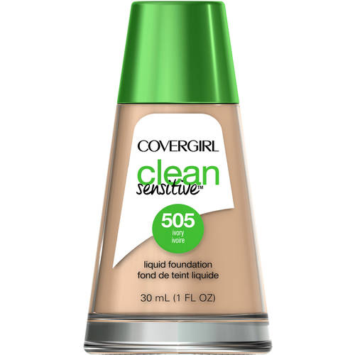 CoverGirl Clean Sensitive Skin Liquid Foundation Ivory 505, 1 oz