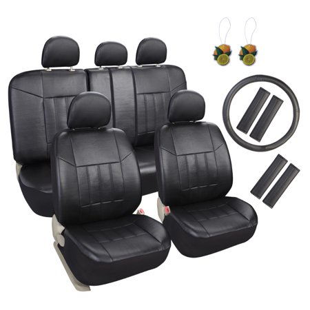 Enjoyable Leader Accessories 17Pcs Car Seat Covers Set Universal Fit Interior Decor Faux Leather Rear Front Seat Protector For Truck Suv Airbag Compatible With Pdpeps Interior Chair Design Pdpepsorg