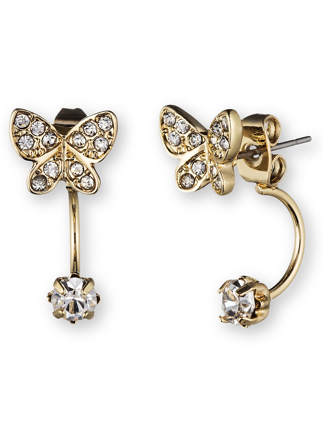 Butterfly Ear Jacket and Stud Earrings Set