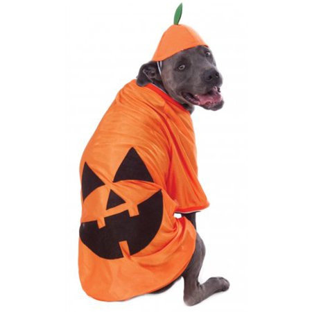 Big Dogs Pumpkin Jack-O'-Lantern Pet Dog Halloween Costume (Dog Football Costumes Halloween)