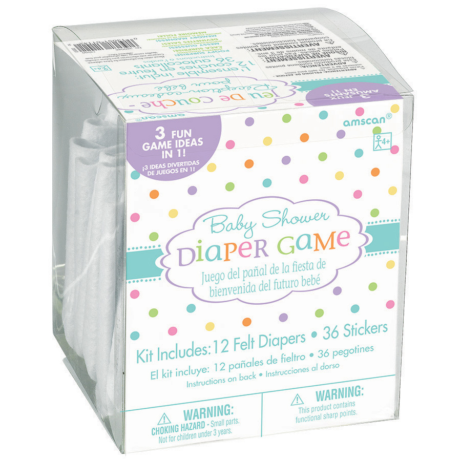 Baby Shower Diaper Game Kit (Each) - Party Supplies