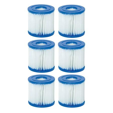 Best Swimming Pool Filter - Bestway Swimming Pool Filter Pump Replacement Cartridge Type - (VII) (6-Pack)