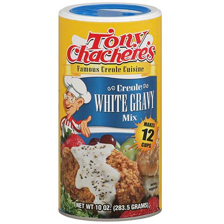 Tony Chacheres Famous Creole Cuisine Creole White Gravy Mix  10 Oz  Pack Of 12