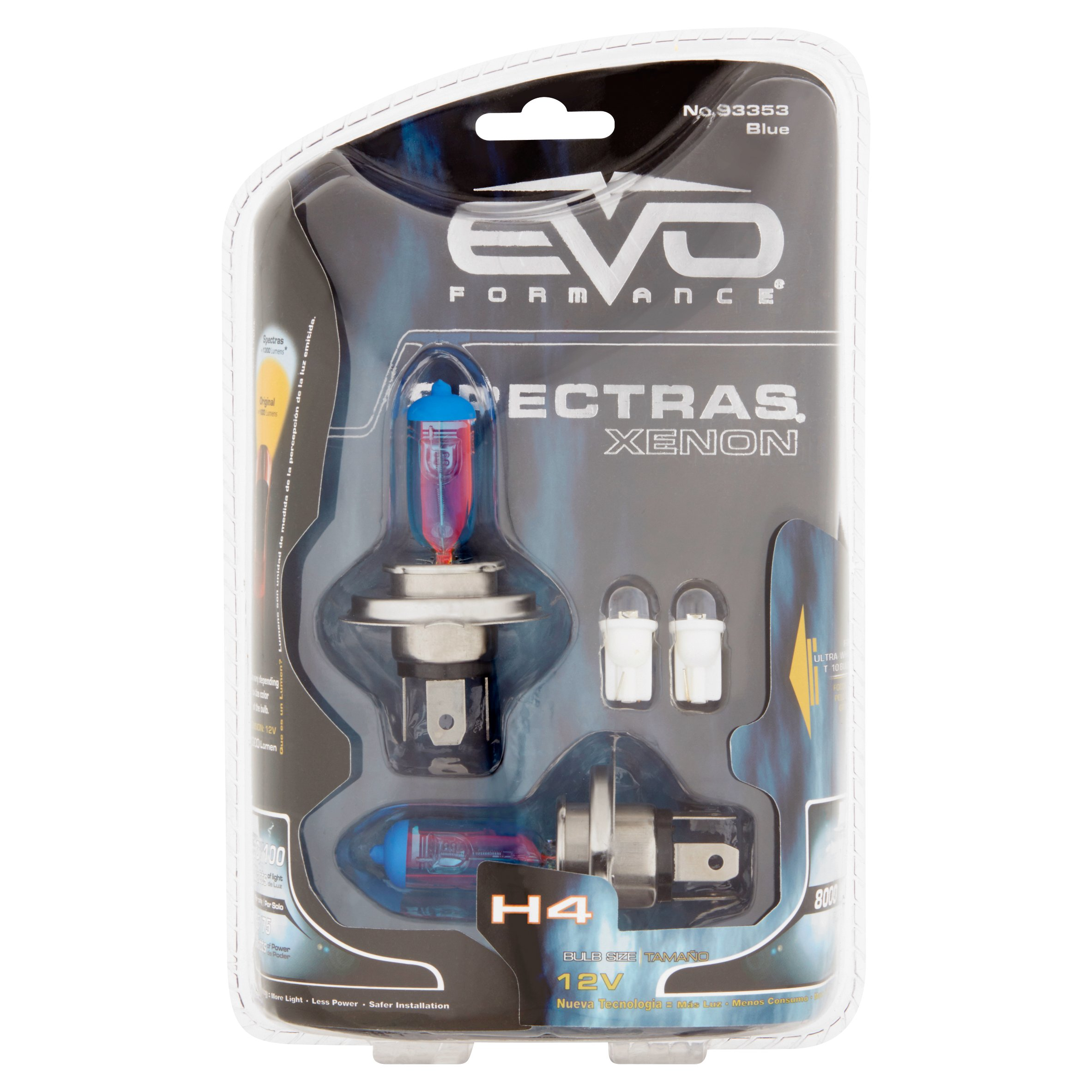 EVO Formance Spectras Xenon H4 12V Blue Bulbs, 2 count