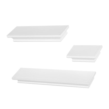 HERCHR Home Wall Shelf, Wall Display Shelf,3Pcs MDF Floating Shelves Wall Display Storage Rack Home Furniture Office Decoration, Contemporary Floating Wall Shelf Ledge for Picture Frames Book Display](Shelf Decorations)