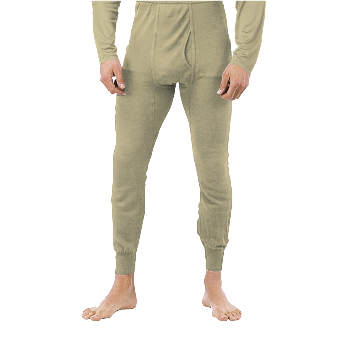 Silk Weight Thermal Underwear Pants, Sand Mens by Rothco