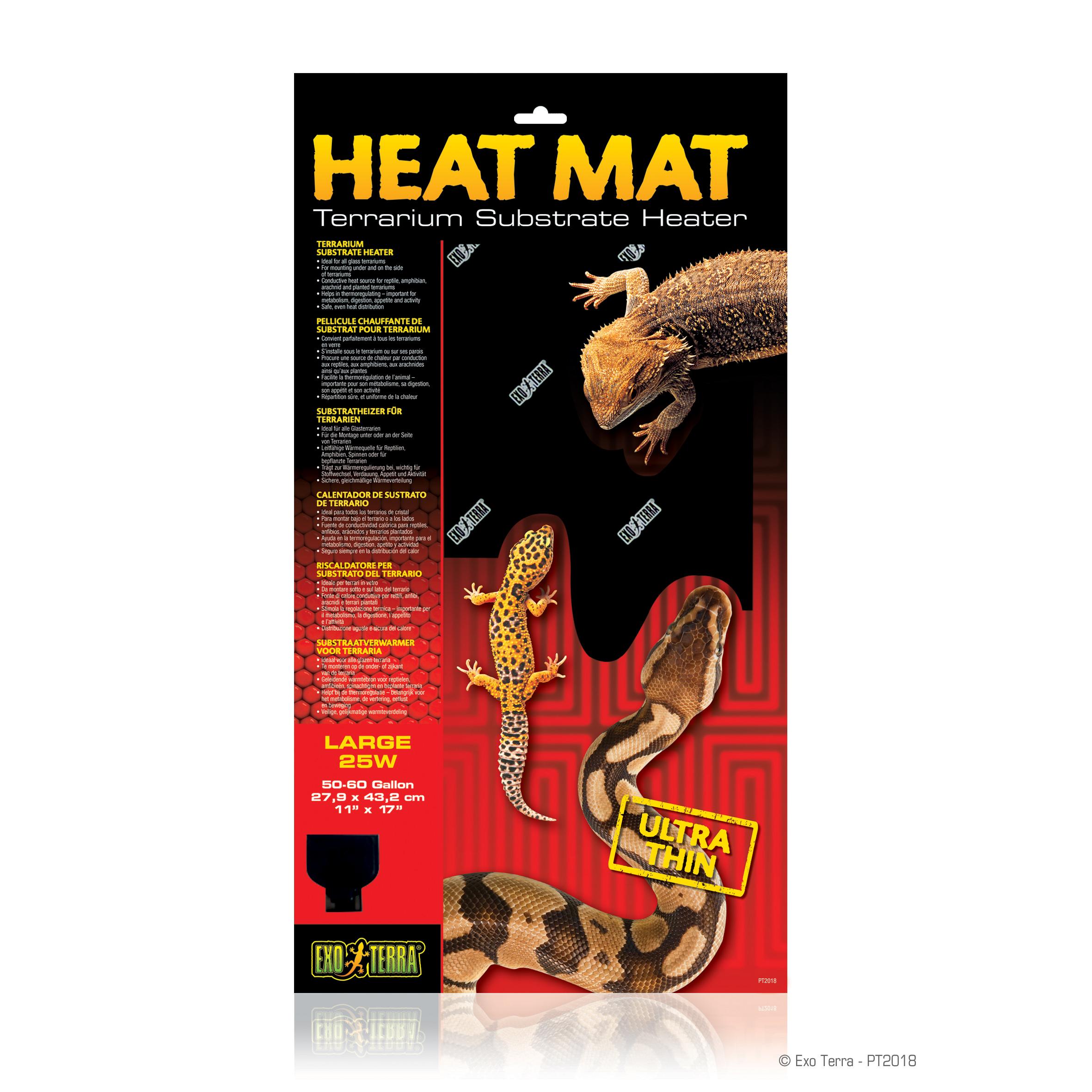 Exo Terra Heat Mat Terrarium Substrate Heater, 25-Watt