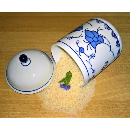Canvas Print Jasmine Rice Rice Rice Grains Porcelain Box Stretched Canvas 10 x -