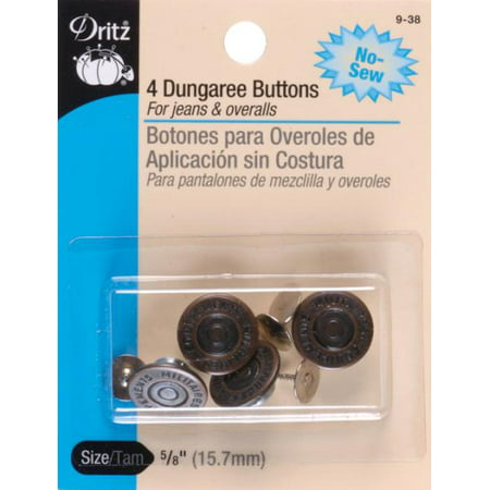 (Dritz No-Sew Dungaree Buttons 5/8