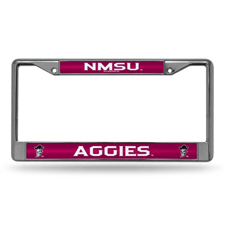 New Mexico State Laser Etched Chrome License Plate Frame (Glitter)