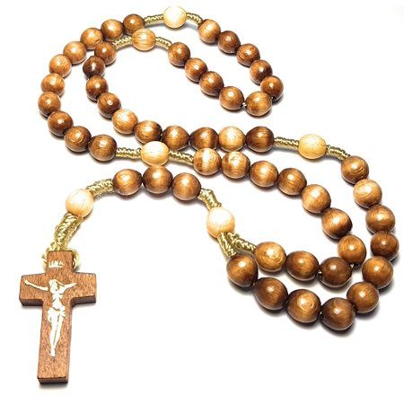Holy Relic Rosary touched to first class relics of St Faustina St Padre Pio & St John Paul JP 2 for peace health & happiness Rosario tocado a reliquias de primera clase paz salud f ()