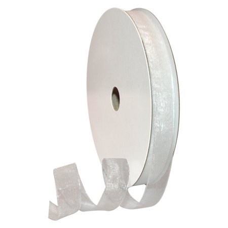 Morex Ribbon, Sheer Organdy, 5/8 in x 100 yd, White