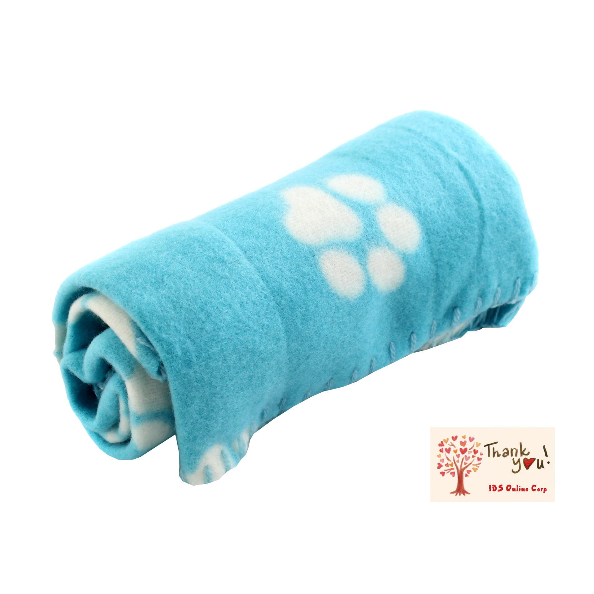 Soft Fleece Pet Dog Cat Puppy Kitten Warm Blanket Sleep Bed Mat with Paw Print