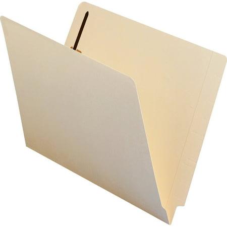 Smead End Tab Fastener File Folder, Shelf-Master® Reinforced Straight-Cut Tab, 1 Fastener, Letter Size, Manila, 50 per Box (34110)