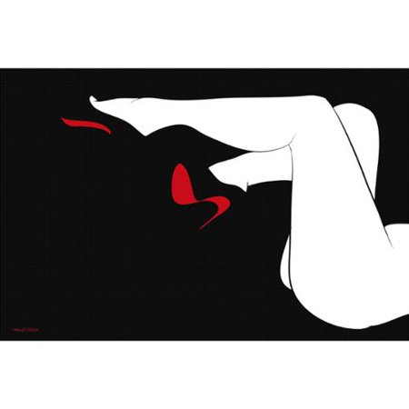 8b0e145b42c1 Maxwell Dickson  Red Bottoms  Modern Canvas Wall Art - Walmart.com